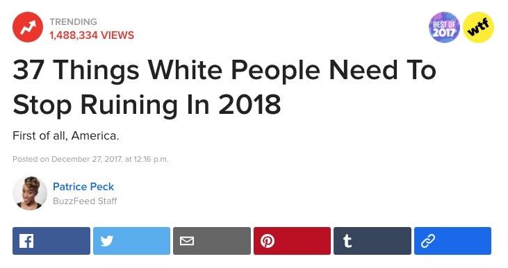 37 Things Black People Need To Stop Ruining In 2018