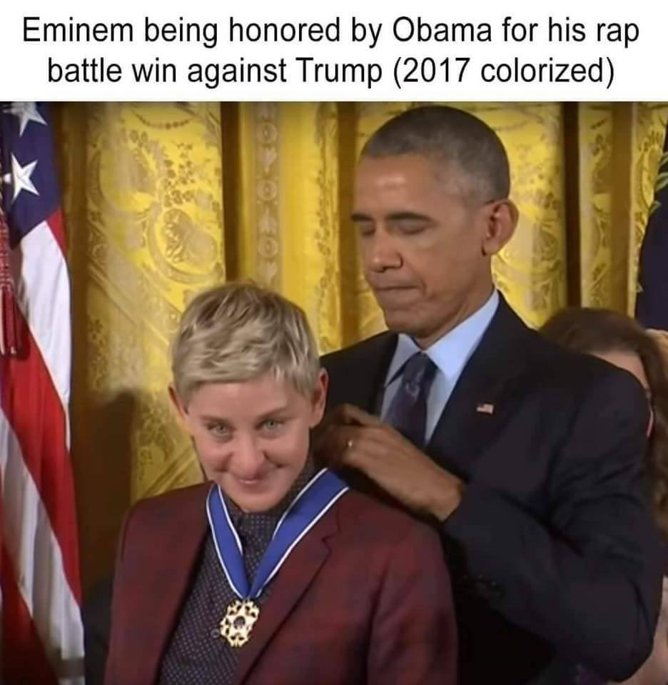 Meme Alert: 44 Awards Eminem For His Rap Battle Win Over Trump