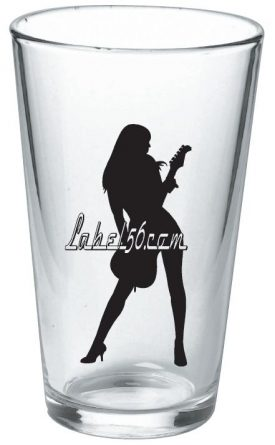 Label 56 Pint Glass