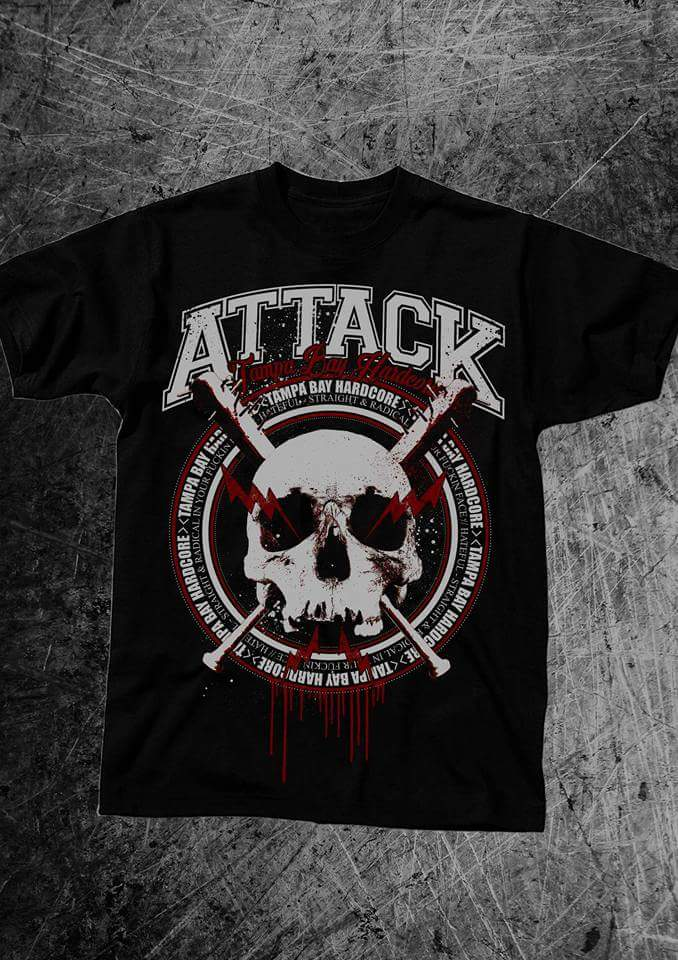 Attack- Tampa Bay Hardcore Mens T Shirt