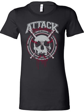 Attack- Tampa Bay Hardcore Girls Bella Shirt