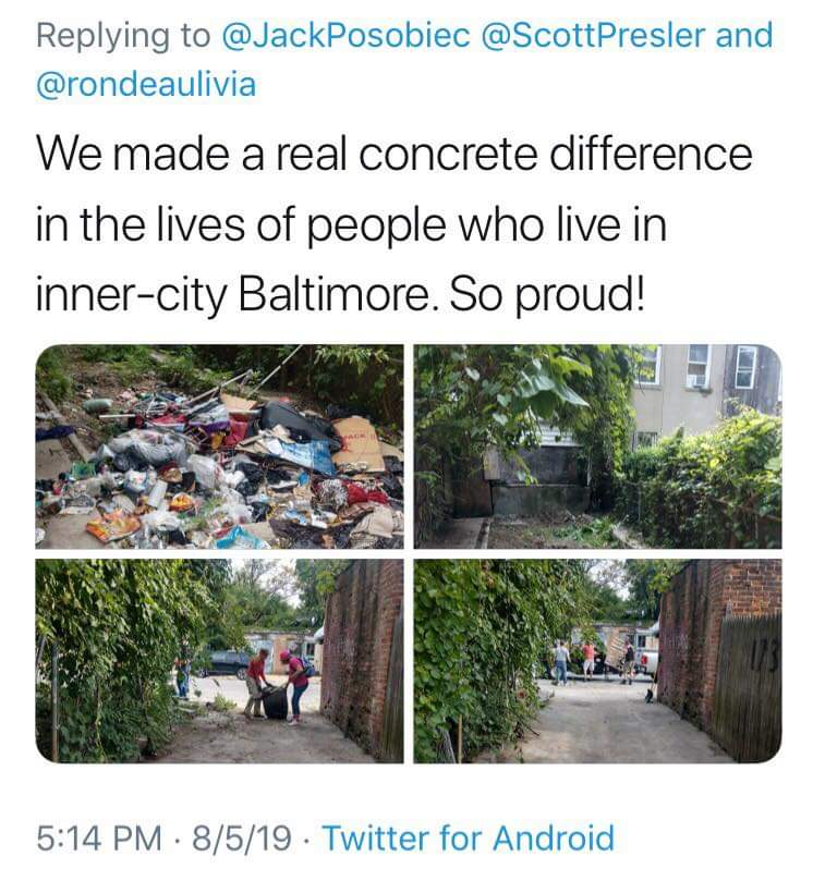 Antifa Member Threatens Man Who Volunteered To Clean Up Trash In Baltimore