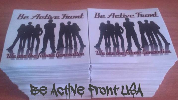 Be Active Front Stickers