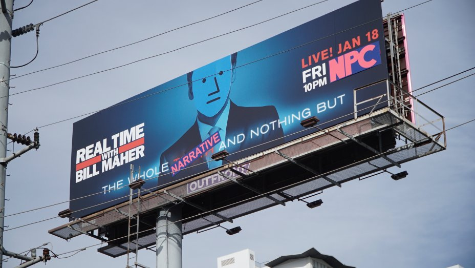 "Anti PC Street Art Group ""The Faction"" Turns Bill Maher Billboard Into NPC Meme"