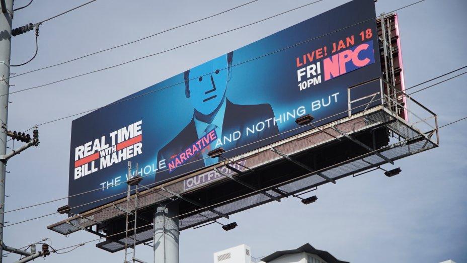 "Anti PC Street Art Group ""The Faction"" Turns Bill Maher Billboard Into NPC Meme"