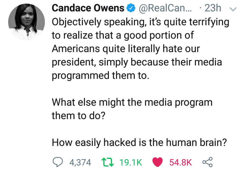 Candace Owens On Media Control