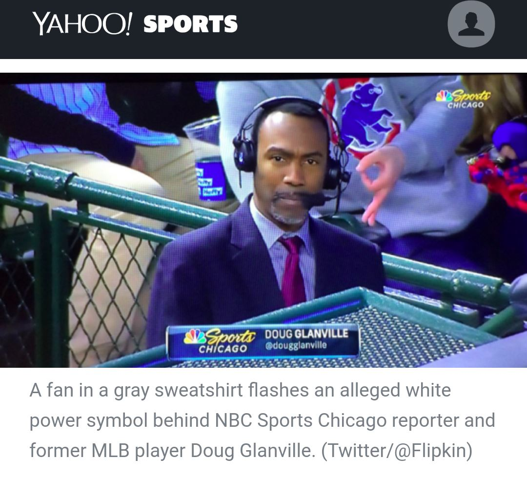 "Clown World: Chicago Cubs Investigating ""Racist"" Hand Sign"