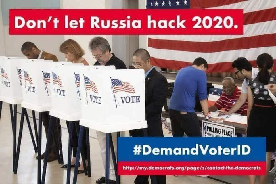 Stop Russian Election Hacking. Demand Voter ID