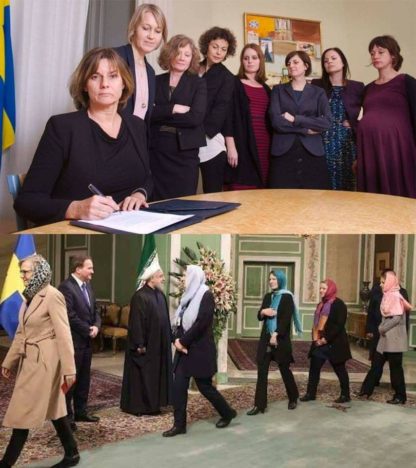 Feminist ethnomasochism by senior Swedish politicians