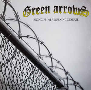 Green Arrows- Rising From A Burning Disease 12″ White Marble Vinyl