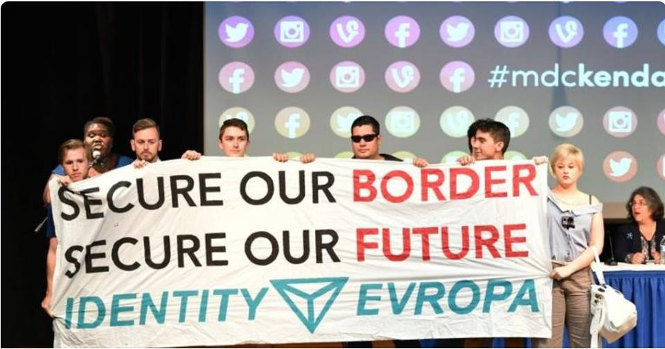Identity Evropa Activism At Sanctuary City Panel Discussion