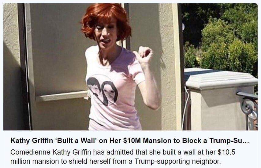 Kathy Griffin Builds A Wall