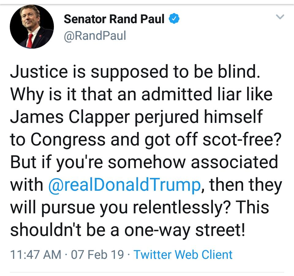 Rand Paul: Senate Needs To Start Investigating Those Behind The Selective Trump Investigations