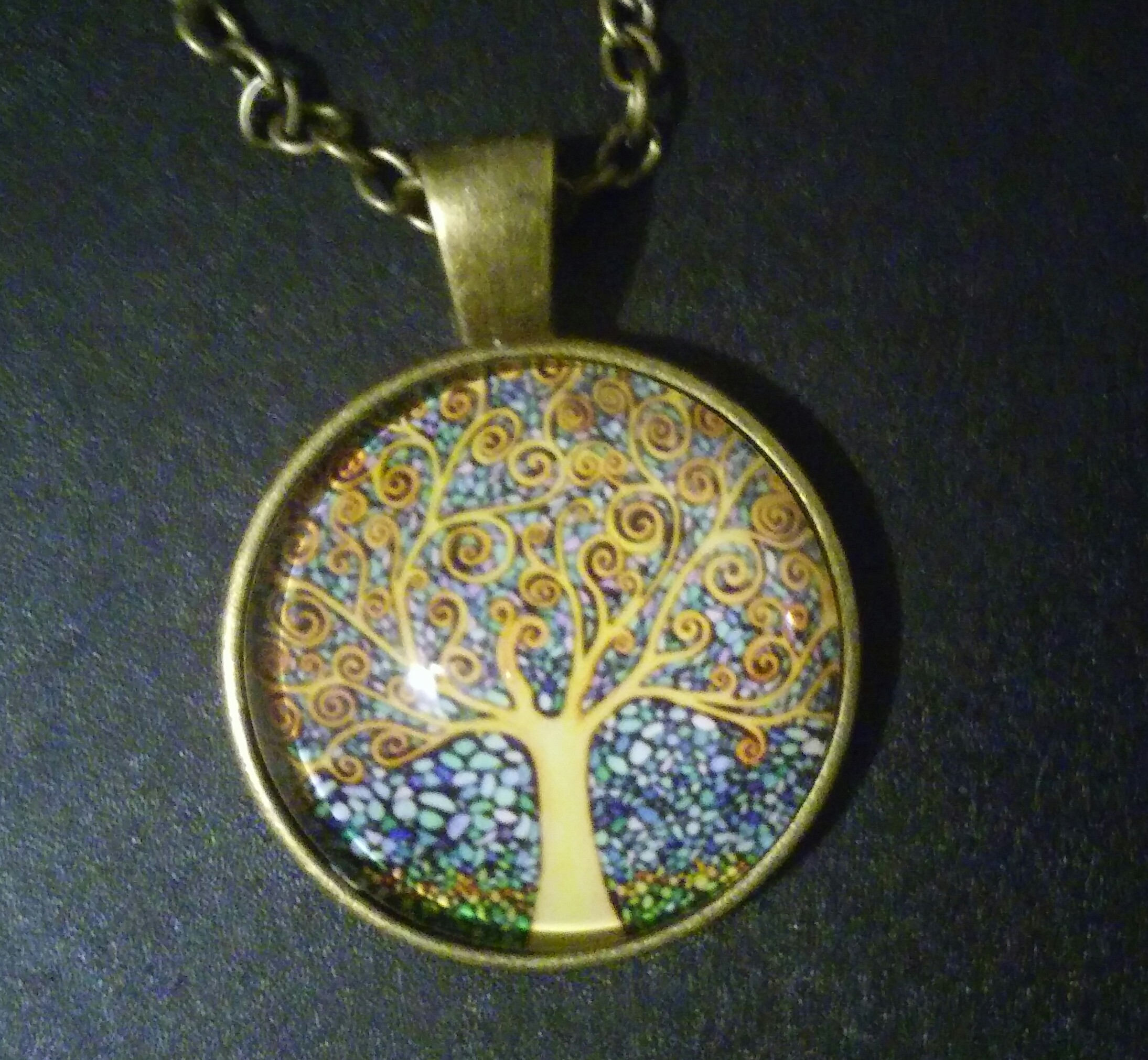 """Stone Art"" Tree Of Life Necklace"