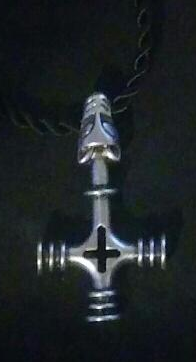 Thors Hammer / Wolf Cross Necklace