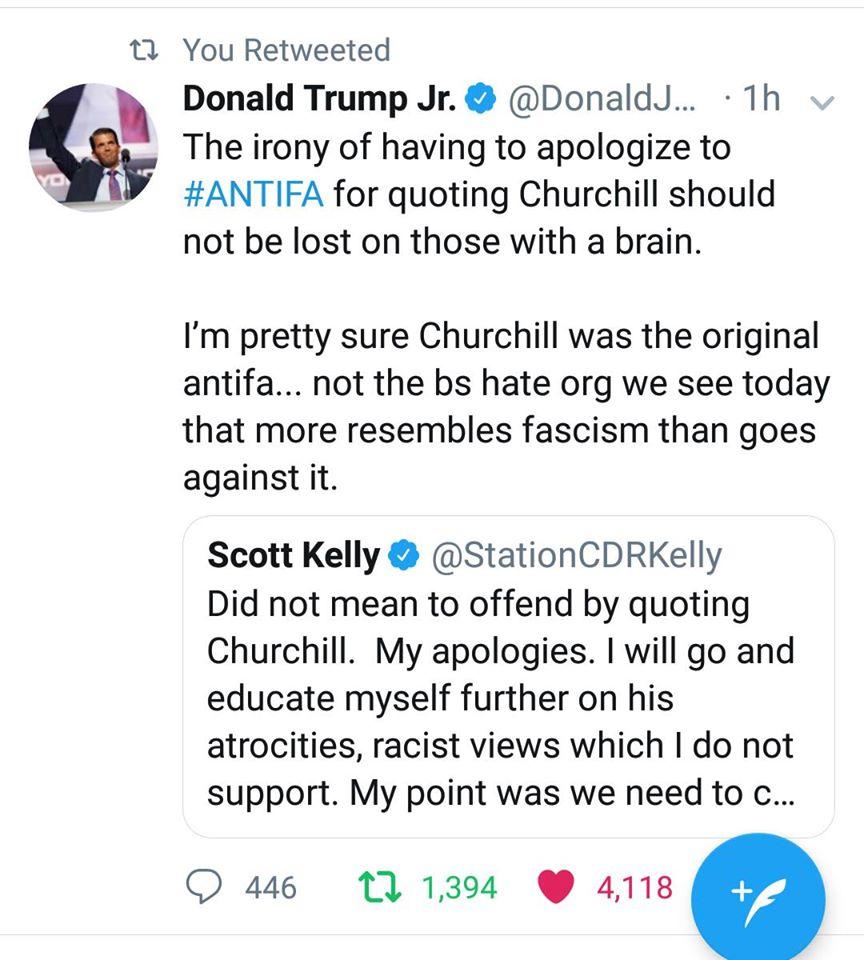 Trump Jr. & The Churchill Irony