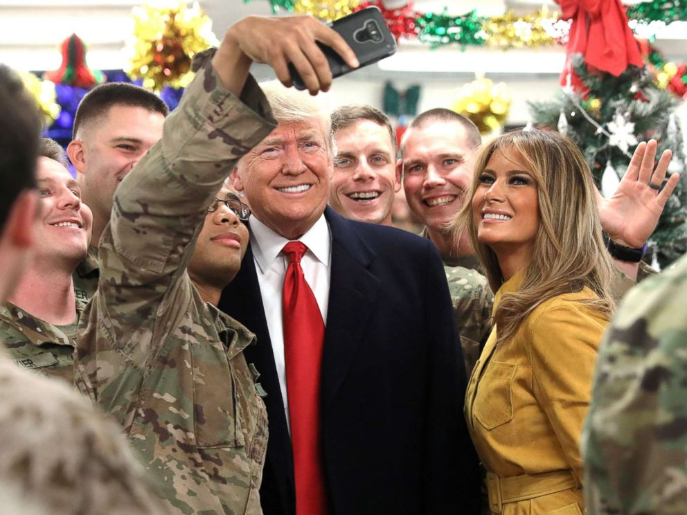 Mass Media`s Sad & Pathetic Attacks On President Trump & Melania After They Visit Troops For Christmas