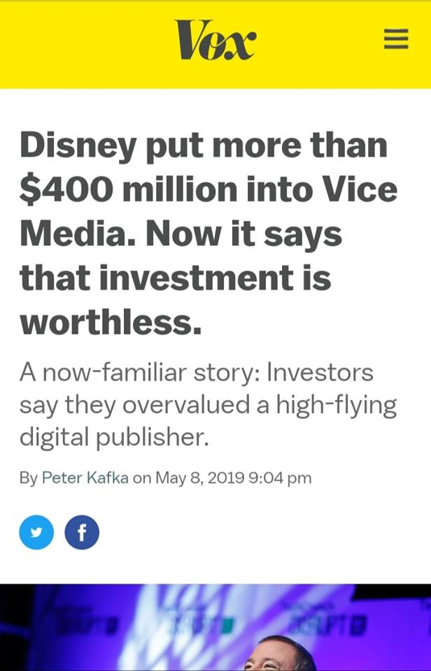 Disney: Vice News Investment Is Worthless