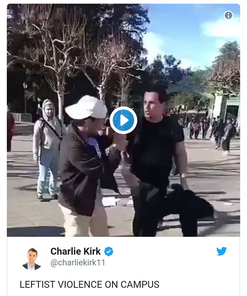 The Violent Left. Activist Attacked At UC Berkeley! Attacker Wasn`t Wearing A MAGA Hat So National Media Is Silent