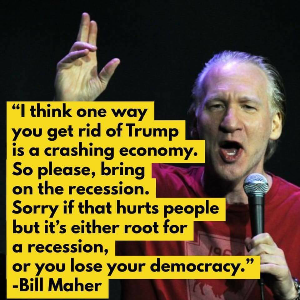 Bill Maher Wants Americans Bankrupt & Financially Ruined Because He Opposes Trump