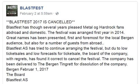Blastfest Lets Antifa Bully Them, Then Lose Ticket Sales & Cancel Show