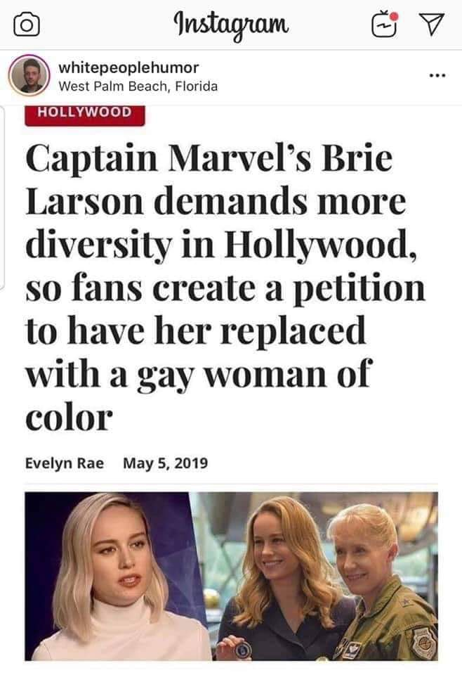 Demand Captain Marvel is Played By a Woman of Color, Not Brie Larson!