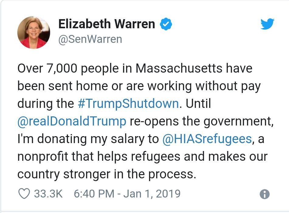 Elizabeth Warren Donates To Illegal Immigrants Seeking Asylum Instead Of Inner City American Children