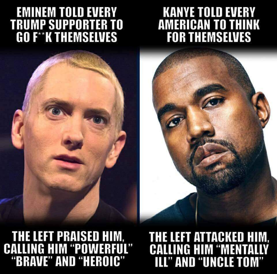 Eminem Vs Kanye: The Left Is The Establishment