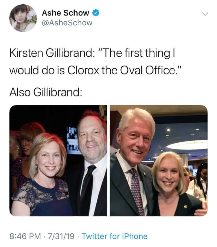 Meme Alert: When Gillibrand Says She Would Bleach The Oval Office