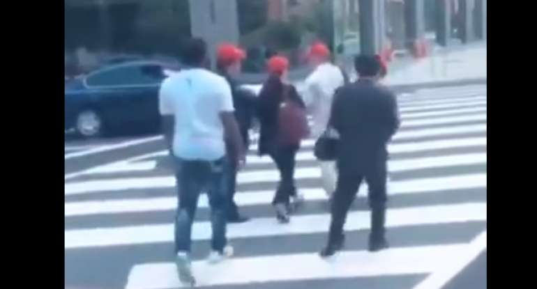 Video Shows Black Men Harassing Asians Wearing MAGA Hats. National Media Silent