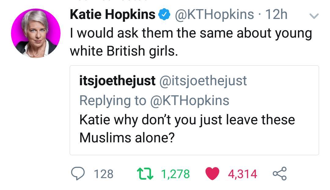 Katie Hopkins Vs Liberal