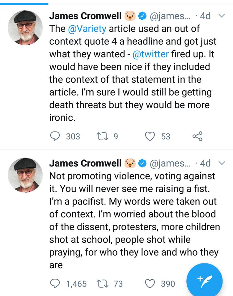 Social Change Activist James Cromwell Gets A Lesson In Fake News