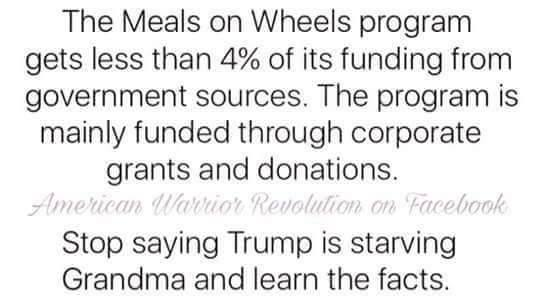 Trump Killing Meals On Wheels Is Fake News