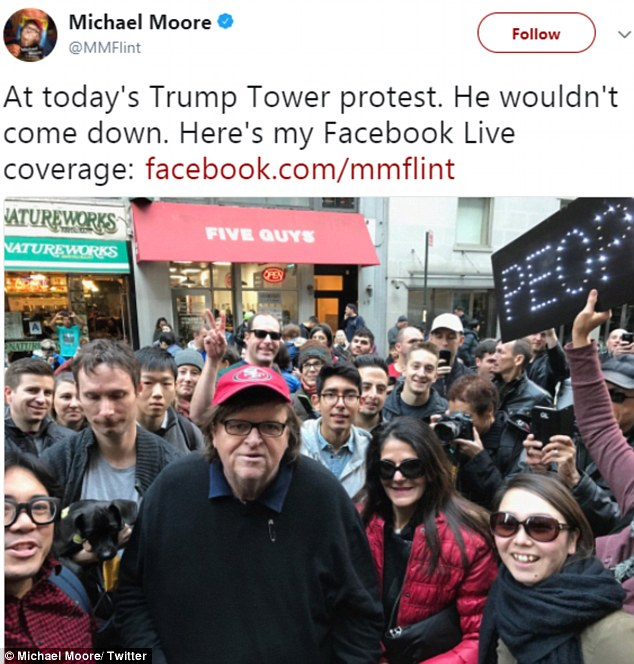 Michael Moore Attended Russian Organized Rally