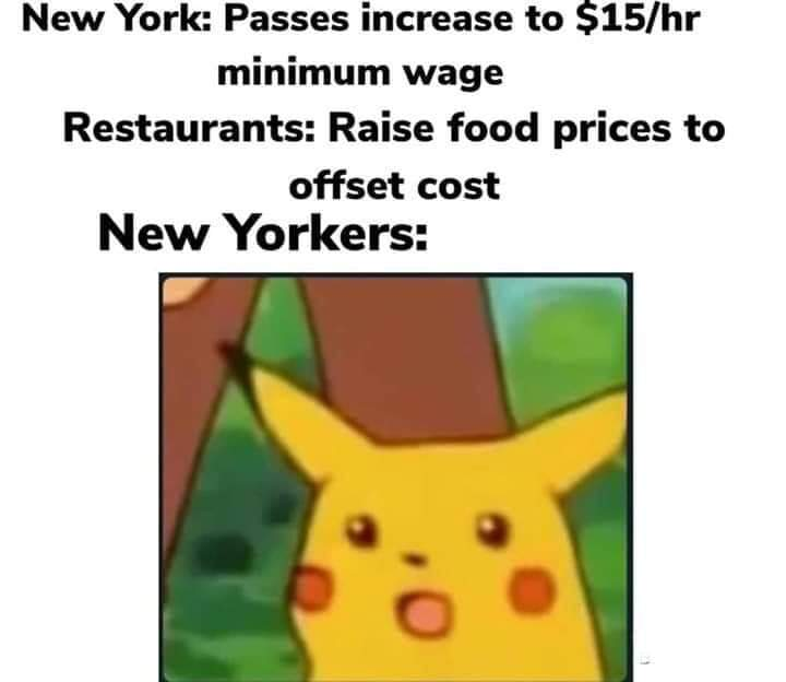 New Yorker`s Shocked After Minimum Wage Increase Leads To Cost Increases. Do They Not Understand Economics?