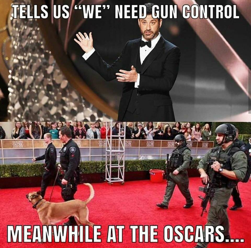 Hollywood Surrounded By Armed Guards At Oscars. Do They Think They`re More Important Than School Children?