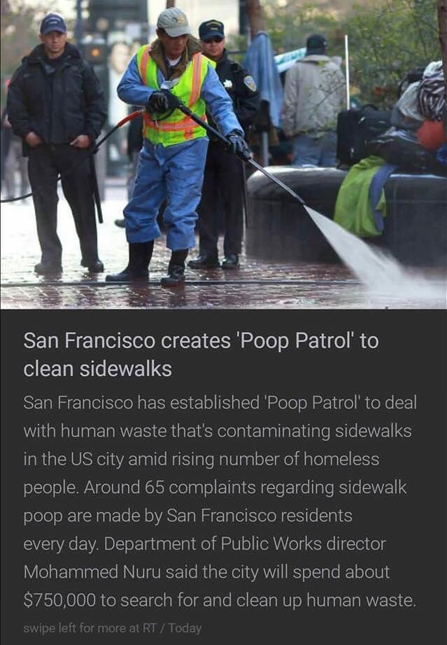 SF Mayor Fed Up With Feces, Creates Poop Patrol