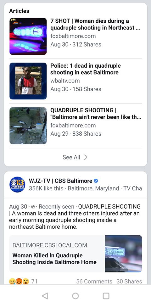 16 Year Old Killed & 2 Other Teens Shot In 1 Of 3 Mass Shootings In Baltimore In The Last 3 Days. National Media Silent