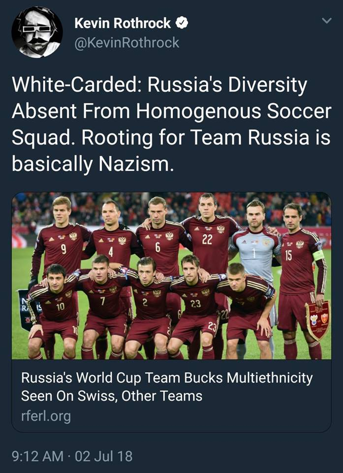 SJW's: European Soccer Teams With European Players Are Racist. And You`re A Nazi If You Cheer For Them