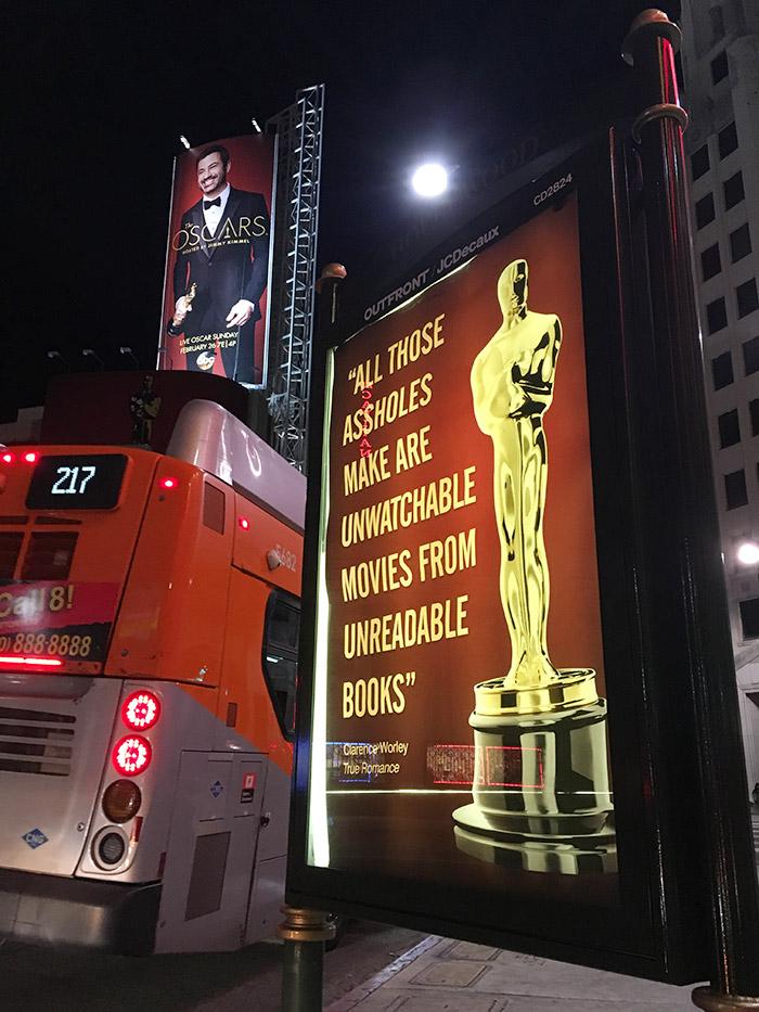 Conservative Street Artist Trolls The Oscars