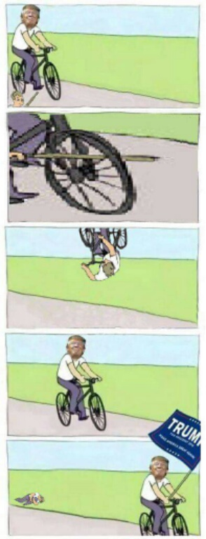 Clinton Vs Trump Bike