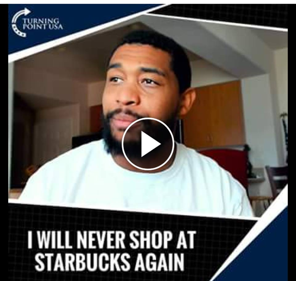 Turning Point USA's New Director Of Urban Engagement Brandon Tatum DESTROYS Starbucks' CEO