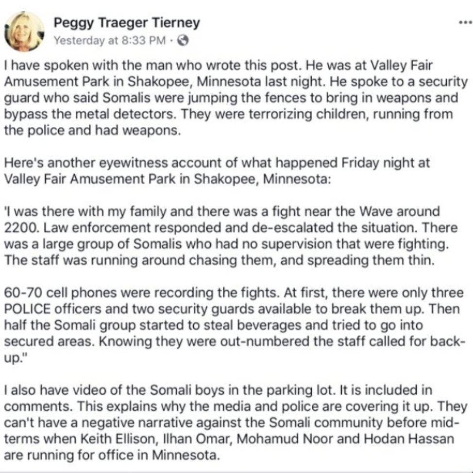 Somali Mob Attack On LEO Appreciation Night At Valleyfair Amusement Park. National Media Silent