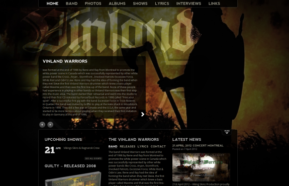 Vinland Warriors New Site Online Now
