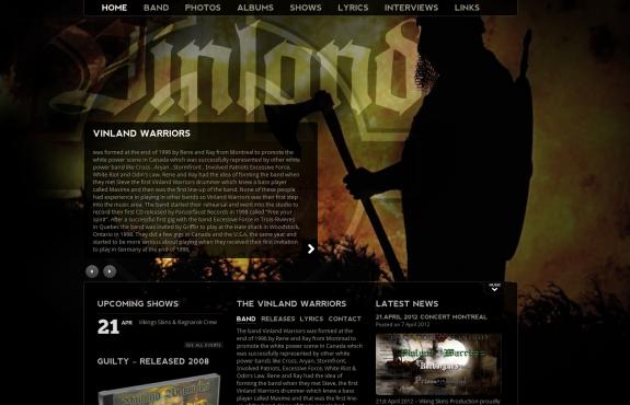 Vinland Warriors New Site Online Now